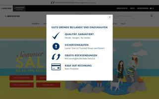 Lands End Webseiten Screenshot