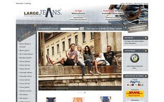 largeJEANS Webseiten Screenshot