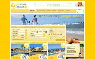Lastminute-Express Webseiten Screenshot