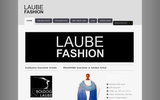Laube Fashion Webseiten Screenshot
