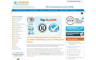 Laudius Webseiten Screenshot