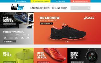 Lauf-bar Webseiten Screenshot