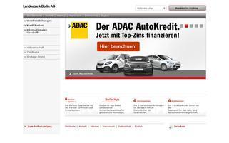 LBB Kreditkarten Webseiten Screenshot
