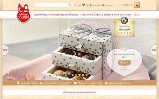Lebkuchen Schmidt Webseiten Screenshot