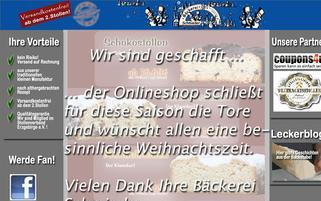leckerstollen Webseiten Screenshot