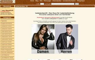 Lederjacken24 Webseiten Screenshot