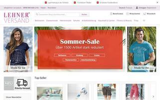 Lehner Versand Webseiten Screenshot