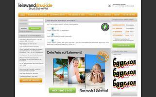 leinwanddruck.de Webseiten Screenshot
