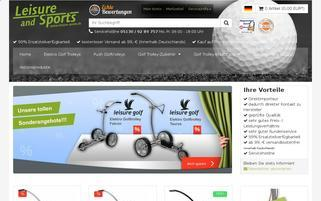 leisure-sports.de Webseiten Screenshot
