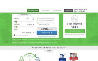 Lendico Webseiten Screenshot