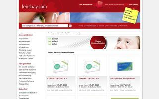 Lensbay Webseiten Screenshot