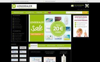 Lensdealer Webseiten Screenshot