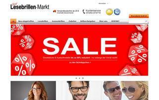 Lesebrillen Markt Webseiten Screenshot