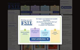 Leseland Webseiten Screenshot