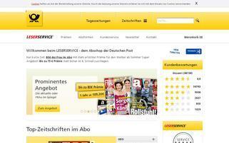 Leserservice Webseiten Screenshot