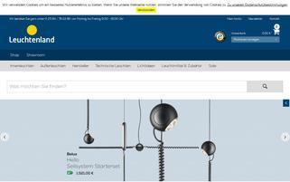 Leuchtenland Webseiten Screenshot