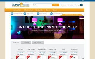 Leuchtenzentrale Webseiten Screenshot