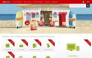 Lexware Webseiten Screenshot