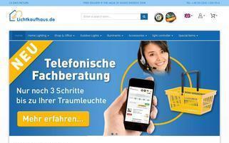 Lichtkaufhaus Webseiten Screenshot