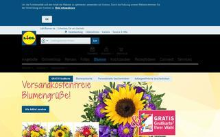 Lidl Blumen Webseiten Screenshot