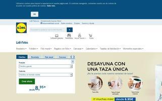 lidl-fotos.es Webseiten Screenshot