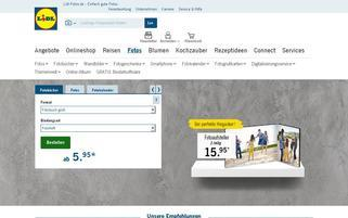 Lidl Fotos Webseiten Screenshot