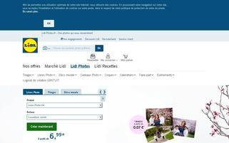lidl-photos.fr Webseiten Screenshot
