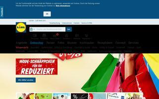 Lidl Webseiten Screenshot