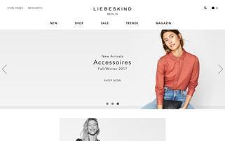 Liebeskind Webseiten Screenshot