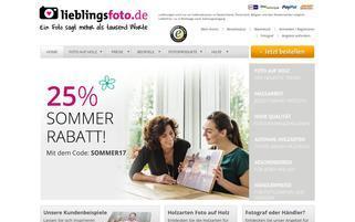 lieblingsfoto.de Webseiten Screenshot