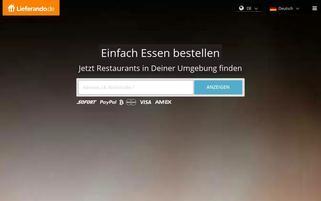Lieferando Webseiten Screenshot