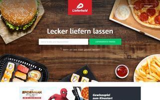 Lieferheld Webseiten Screenshot