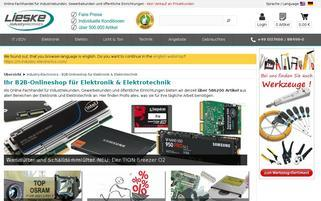 Lieske Elektronik Webseiten Screenshot