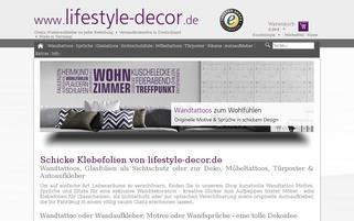 Lifestyle-Decor Webseiten Screenshot