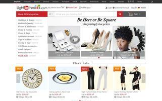 lightinthebox.com Webseiten Screenshot