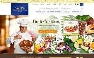 Lindt Webseiten Screenshot