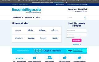 linsenbilliger Webseiten Screenshot