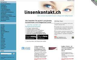 linsenkontakt.ch Webseiten Screenshot