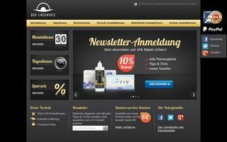 Linsenpate Webseiten Screenshot