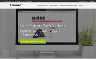 Lizenzo Webseiten Screenshot