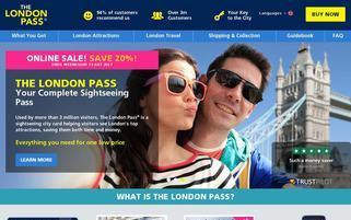 London Pass Webseiten Screenshot