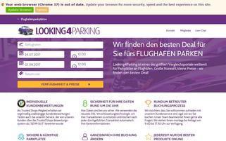 looking4parking.com Webseiten Screenshot