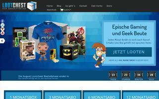 Lootchest Webseiten Screenshot