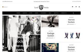 Lord of Socks Webseiten Screenshot