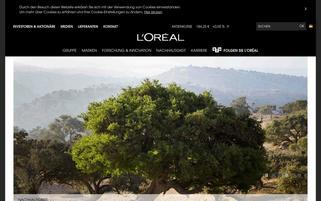 Loreal Webseiten Screenshot