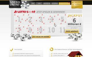 Lotto-Online Webseiten Screenshot