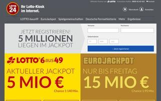 Lotto24 Webseiten Screenshot