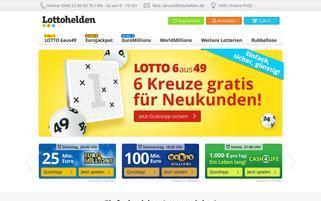 Lottohelden Webseiten Screenshot
