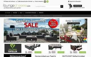 Loungedreams Webseiten Screenshot