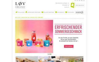 lov organic Webseiten Screenshot